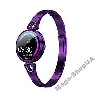 Смарт-часы Smart Watch YU878-1 Violet, спорт часы, умные часы, наручные часы, фитнес браслет, фитнес трекер, фото 1