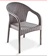 """Кресло """"Ege Rattan Koltuk"""" Irak Plastik, искусственный ротанг Турция серый"""