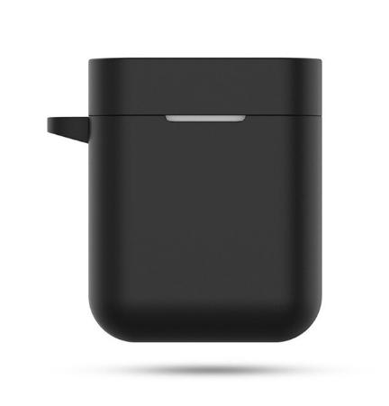 Чехол для наушников Xiaomi Mi True Air Lite и Xiaomi Airdots Pro Цвет Чёрный TWS Bluetooth Silicone Case