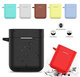 Чехол для наушников Xiaomi Mi True Air Lite и Xiaomi Airdots Pro Цвет Чёрный TWS Bluetooth Silicone Case, фото 2