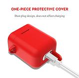 Чехол для наушников Xiaomi Mi True Air Lite и Xiaomi Airdots Pro Цвет Красный TWS Bluetooth Silicone Case, фото 3