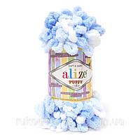 Пряжа Puffy Color 100гр - 14м (5865 Разноцветная) Alize
