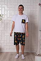 Мужская пижама Pijama po fanu шорты и футболка Ленивцы 46 48 50 52 54 56 58 (S-4XL)