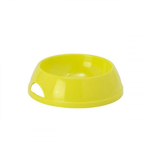 Миска Moderna ЭКО №1 для собак и кошек, пластик, лимонная, 470 мл, d-14 см