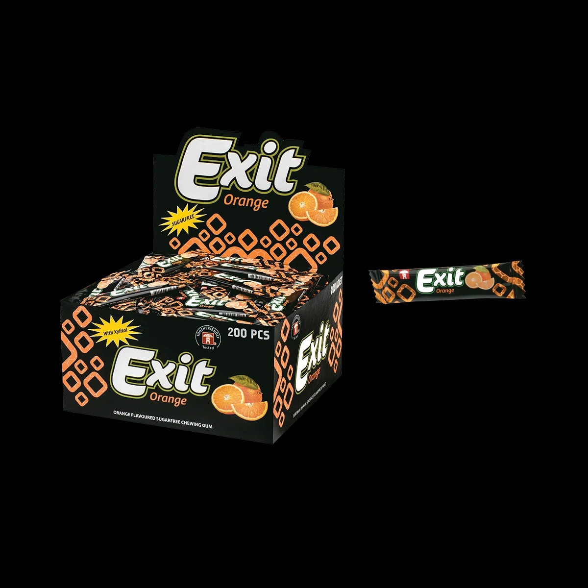 "Жевательная резинка стик без сахара ""Еxit"" апельсин 200 шт."