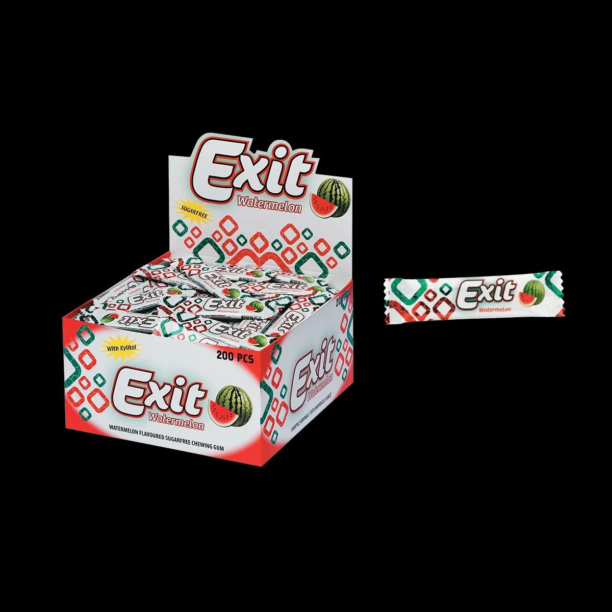 """Жевательная резинка стик без сахара """"Еxit"""" арбуз 200 шт."""