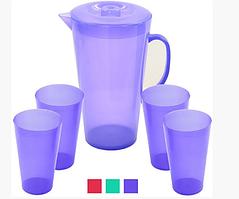 Набор стаканов и графин пластиковый, R82324