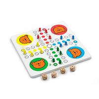 Настольная игра Viga Toys 2-в-1 Мозаика и лудо (59990) Детская игра для развития ребенка