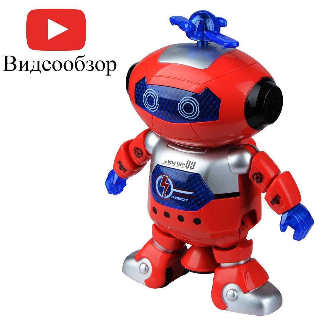 Музыкальный танцующий светящийся робот Dancing Robot (99444-3) Red #S/O
