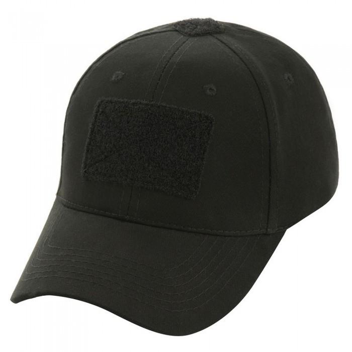 Бейсболка тактическая (кепка) з липучкой (Черный) #S/O