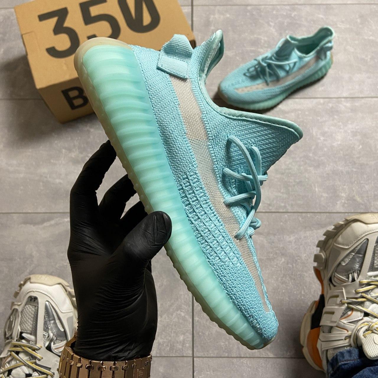 Кроссовки Adidas Yeezy Boost 350 v2 Blue голубой синий 🔥 Адидас мужские кроссовки Синий Цвет 🔥