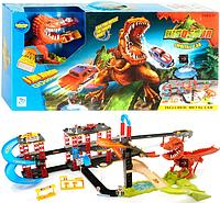 """Большой автотрек """"Тиранозавр Рекс"""" 8899-92 с двумя машинками, длина трека 125 см"""