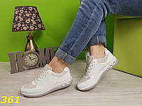 Кроссовки белые с голографическими блёстками