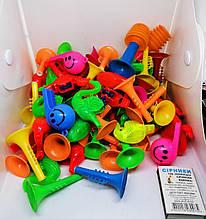 Свисток Ассорти Цветной. Игрушка для наполнения Пиньяты от ПиньятаUA