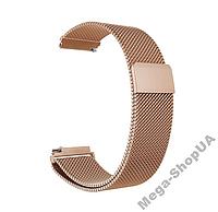 Металлический ремешок браслет для умных часов миланская петля 18 мм Золотистый. Ремінець для годинника 18mm
