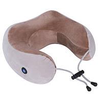 Массажная подушка U-Shaped Massage Pillow (от батареек) Brown (WM-003) #S/O, фото 1