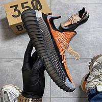 Кроссовки Adidas Yeezy Boost 350 Orange Reflec оранжевые рефлектив 🔥 Адидас мужские кроссовки рефлективные 🔥