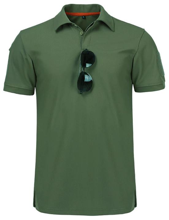 Тактическая футболка поло Outsideca с коротким рукавом (Олива) S #S/O