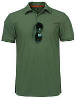 Тактическая футболка поло Outsideca с коротким рукавом (Олива) S #S/O, фото 1