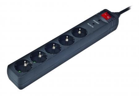 Сетевой фильтр EnerGenie SPG5-C-15 5 розеток, 4,5 м, Black