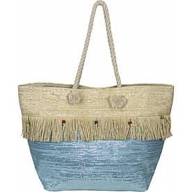 Сумка женская пляжная солома №VT8198532 Голубой #M/K