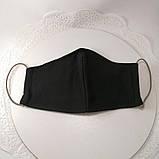Многоразовая 3 слойная защитная тканевая маска, маска для лица многоразовая унисекс мужская детская женская, фото 5