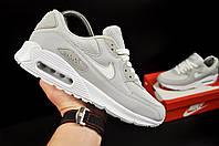 Кроссовки мужские светло серые реплика Nike Air Max 90 код 20766, фото 1