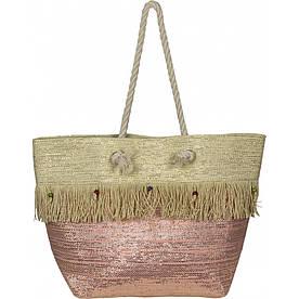 Сумка женская пляжная солома №VT8198532 Розовый #M/K