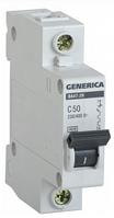 Автоматический выключатель ВА47-29 1Р 50А 4,5кА х-ка С GENERICA MVA25-1-050-C