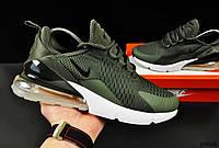 Кроссовки мужские хаки реплика Nike Air Max 270 текстиль код 20628, фото 1
