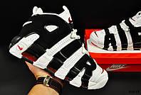 Кроссовки мужские бело-черные  Nike Air More Uptempo 44 размер (стелька 28 см) код 20618, фото 1