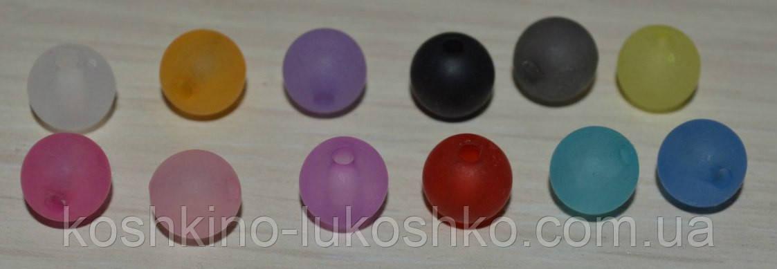 бусины, круглые, матовые,  8 мм