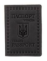 Кожаная обложка для паспорта европейского качества Shvigel 16132 Серый