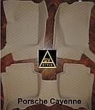 Кожаные Коврики Porsche Cayenne из Экокожи 3D (2002-2010) Коврики Порше Кайен, фото 7
