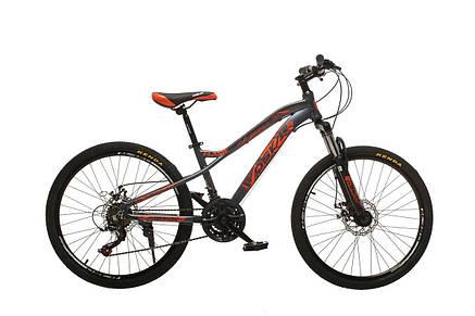 """Велосипед горный Oskar 24"""" FLAME M121 Алюминий Серо-оранжевый с амортизациейХардтейл Велосипед для гір MTB, фото 2"""
