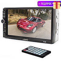 Автомагнитола Lesko 7018B Bluetooth 7 дюймов  2 din WinCE MP4 2 Din цветной экран 4х45 Вт mp5 USB AUX пульт ДУ (2340-5576)