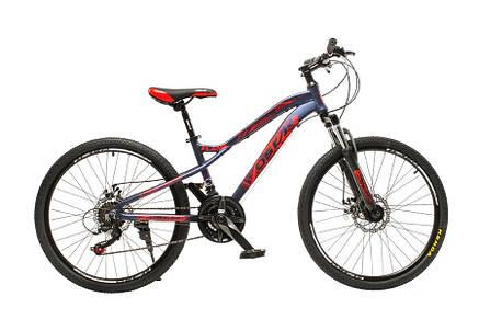 "Велосипед горный Oskar 24"" FLAME M121 Алюминий Синий с амортизациейХардтейл Велосипед для гір MTB, фото 2"