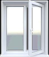 Металлопластиковое окно Steko двухстворчатое открывное 1280 х 1400 мм Белый S300GFBJRARDRE, КОД: 765906