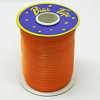 Косая бейка Super 3026 атласная 1.5 см х 100 м Оранжевая Bios-3026, КОД: 1314921
