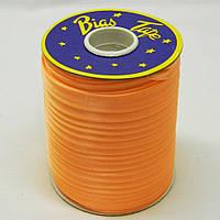 Косая бейка Super 3113 атласная 1.5 см х 100 м Оранжевая Bios-3113, КОД: 1314951