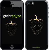 Силиконовый чехол Endorphone на iPhone 5 Черная клубника 3585u-18-26985, КОД: 1711911
