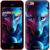 Силиконовый чехол Endorphone на iPhone 5c Арт-волк 3999u-23-26985, КОД: 1711936