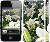 Силиконовый чехол Endorphone на iPhone 4s Белые лилии 2686u-12-26985, КОД: 1712286