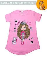 """Красива туніка для дівчинки """"Дівчинка з кішками"""" (від 2 до 5 років)"""