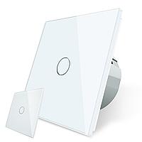 Сенсорный проходной выключатель без проводов Livolo белый (VL-C701R-C701RMT-11)
