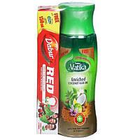 Масло кокосовое обогащённое для волос Дабур Ватика 150 мл.,Dabur Vatika Enriched Coconut Hair Oil, Аюрведа