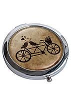 Зеркальце косметическое DevayS Maker DM 01 D 7 см Тандем Коричневое 22-08-445, КОД: 1239028