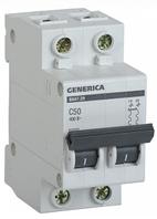 Автоматический выключатель ВА47-29 2Р 50А 4,5кА х-ка С GENERICA MVA25-2-050-C