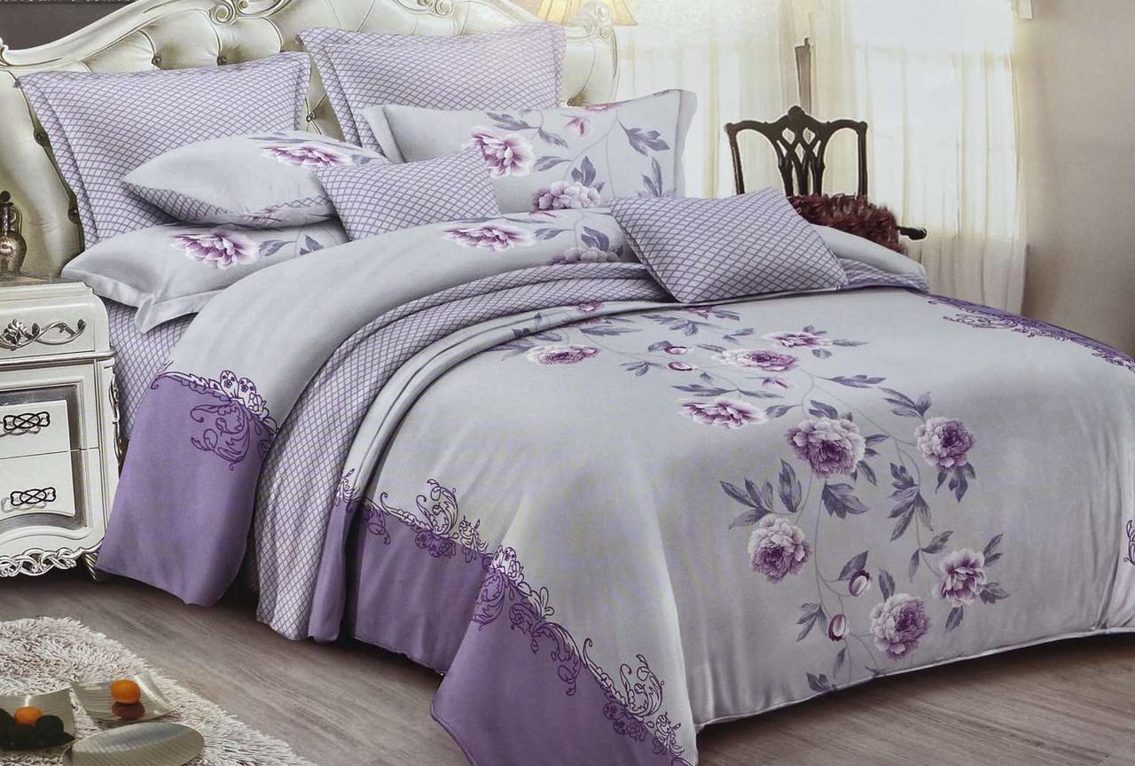 Двуспальный комплект постельного белья евро 200*220 сатин (14367) TM КРИСПОЛ Украина