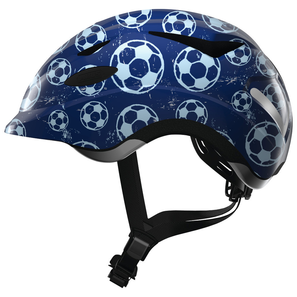 Велосипедний дитячий шолом ABUS ANUKY M 52-57 Blue Soccer
